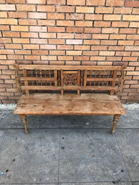 Vintage Asian Bench